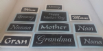 Mother word mix stencils for glitter tattoos including gran grandma and mum / mom  Mothers Day Mothering Sunday (1)